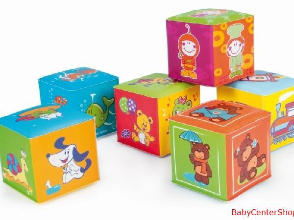 BabyOno készségfejlesztő puha kocka 6 db