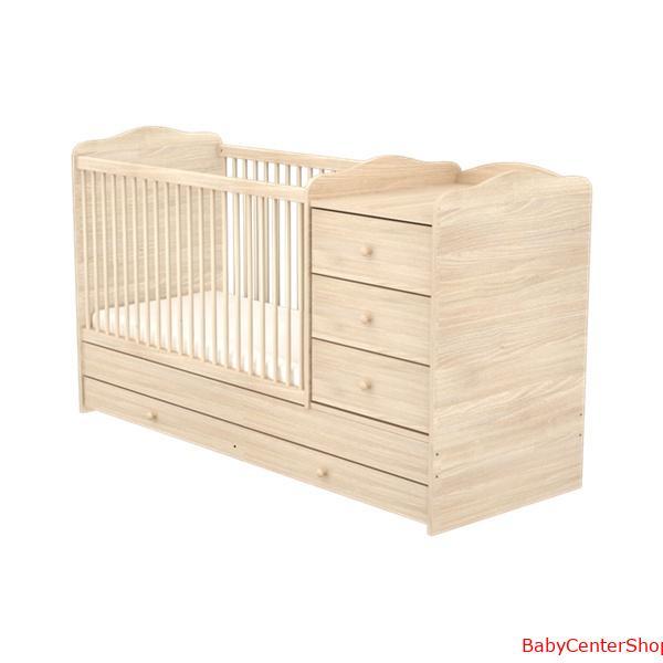 f4dd24d502 60x170 3 Fiókos kombinált gyermekágy NIKI - Borostyán - BabyCenter ...