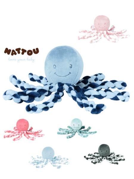 Nattou plüss játék 23cm Octopus